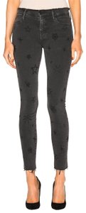 Mother Embroidered Skinny Jeans