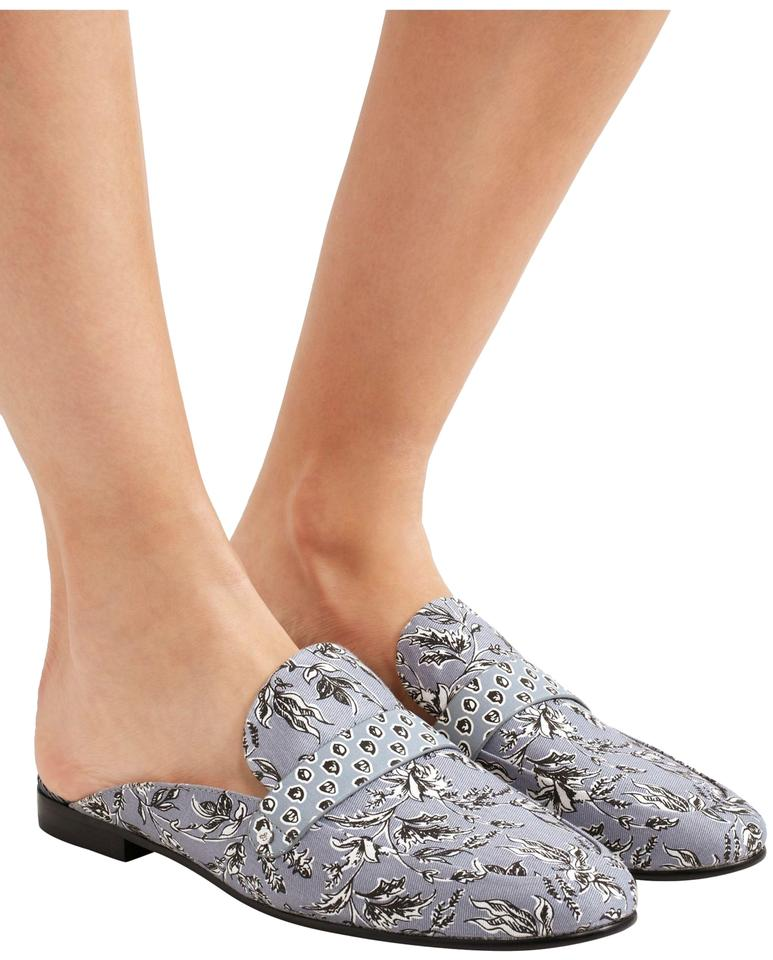 48c2e99ed Sam Edelman Blue Perri Floral Print Leather-trimmed Canvas Slip On ...