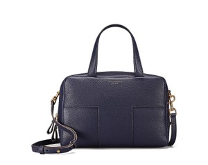 Tory Burch Block Navy Satchel in Blue