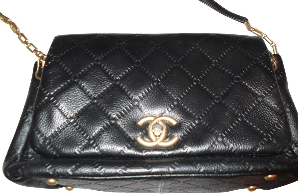 be98576182d2 Chanel Gold Gold Hardware Boy Quilted Chain Strap Tote in Black Image 0 ...
