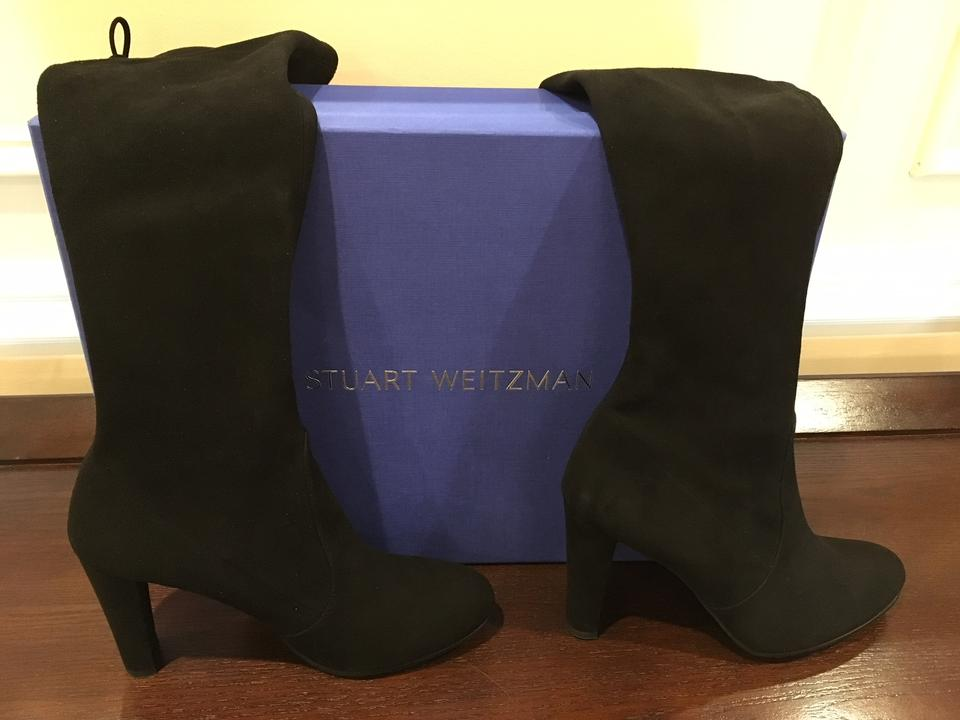b2ede73e12c9 Stuart Weitzman Knee High Stretchy Suede Fall Sexy Black Boots Image 9.  12345678910