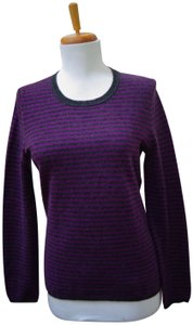 Lord & Taylor Cashmere Crewneck Striped Sweater
