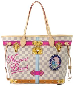 Louis Vuitton Neverfull Summer Trunks Beach Leather Tote in Multicolor