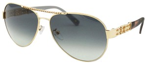 1e567d194d451 Escada New SES 862 Gold Metal Chain Detail Aviator Women Sunglasses