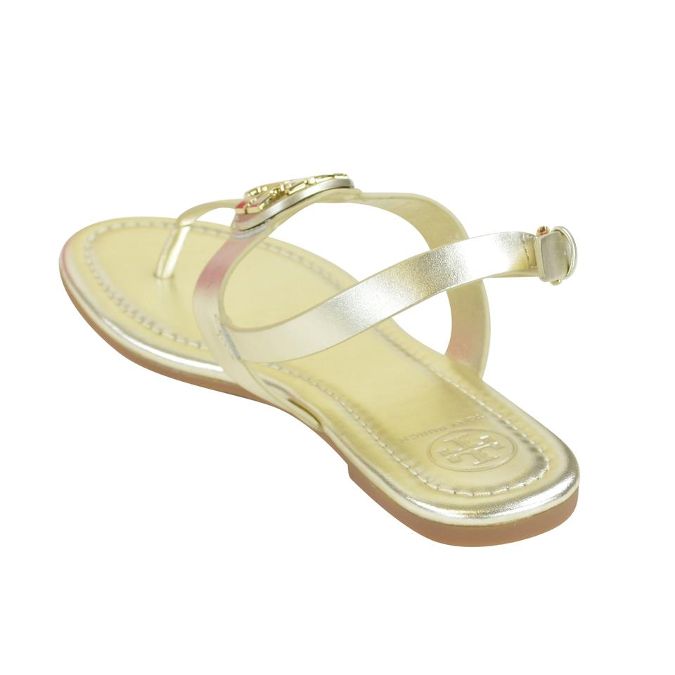 bfb1e0d08e25 Tory Burch Veg Leather Buckle Clasp 8 Spark Gold Sandals Image 5. 123456