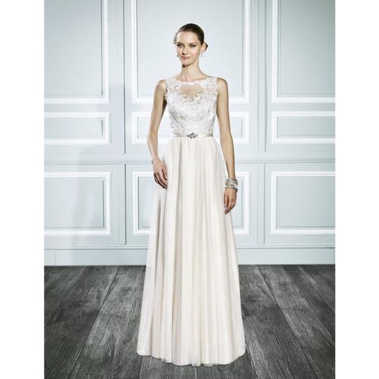 Moonlight Bridal Ivory Style T697 Bohemian Gold Gown