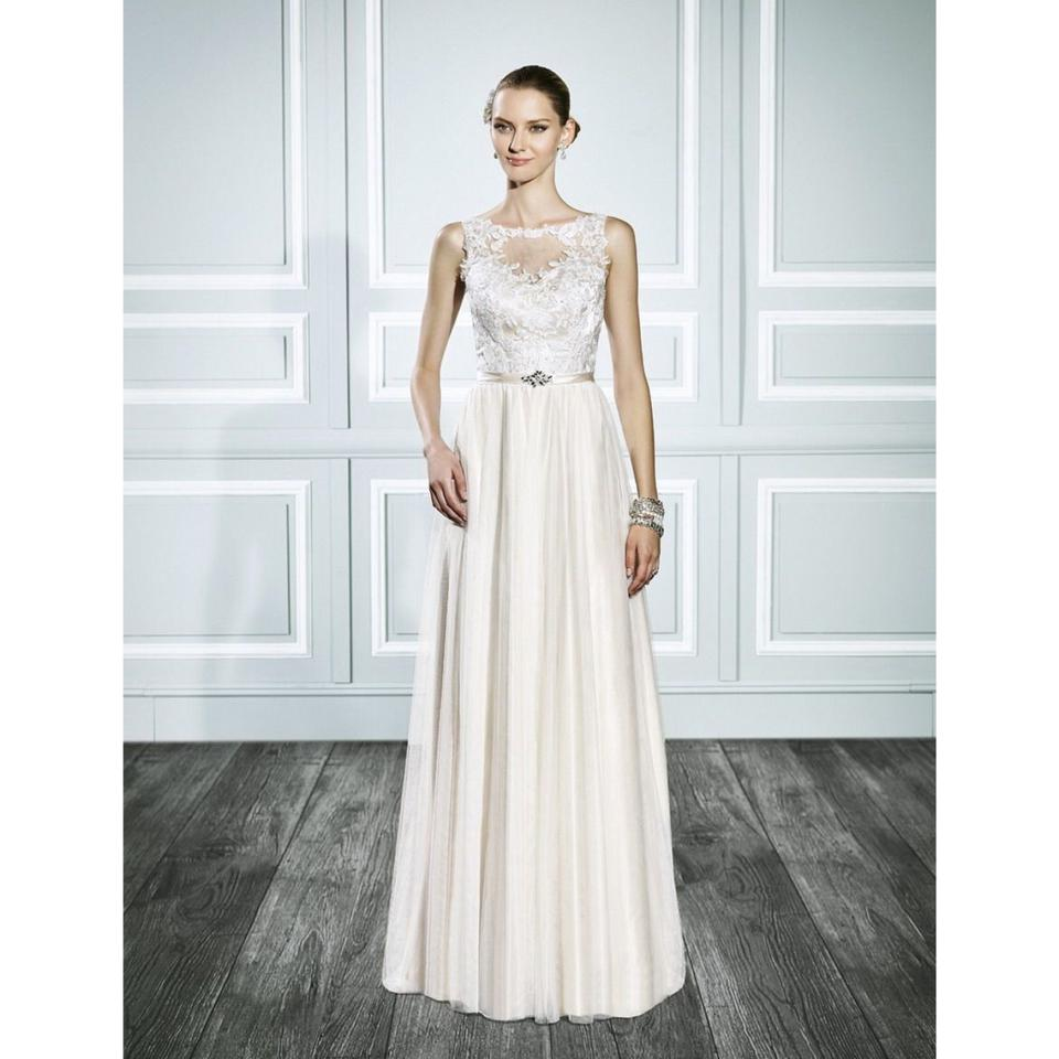 Moonlight Bridal Ivory Style T697 Bohemian Gold Gown Casual Wedding ...