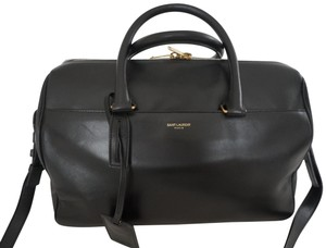 Saint Laurent Duffle Classic Speedy 6 Hour Satchel in black