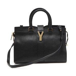 Saint Laurent Ysl Ysl Handbag Ysl Linge Y Linge Y Satchel in Black