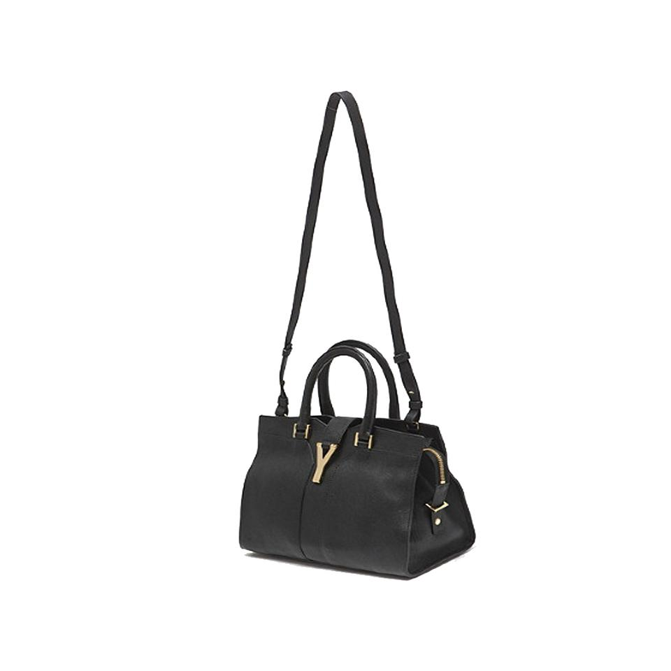 c830b0b29696 Saint Laurent Ysl Women s Ligne Handbag 400666 Black Leather Satchel ...