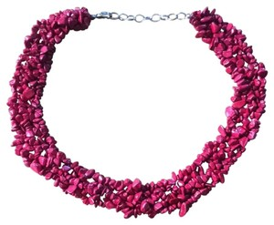 Other Red Puca Statement Necklace