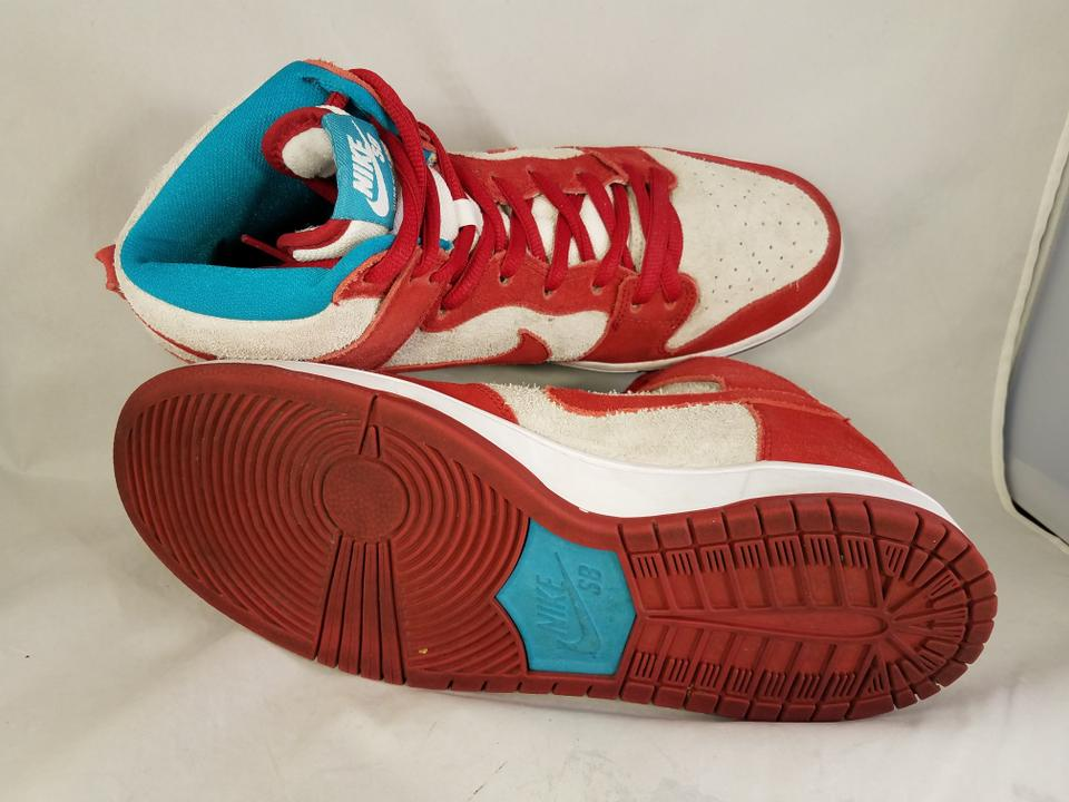 cd197a35d8 Nike Red Off White  Aqua Green Man Sb Dunk High Pho Sneakers Size US ...
