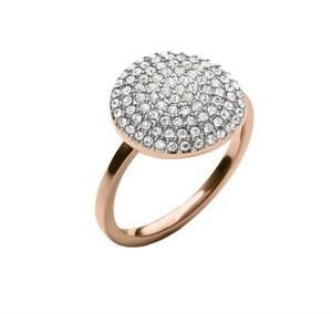 Michael Kors NWT MICHAEL KORS ROSE GOLD TONE PAVE CRYSTAL RING 7 MKJ4104 W DUST BAG