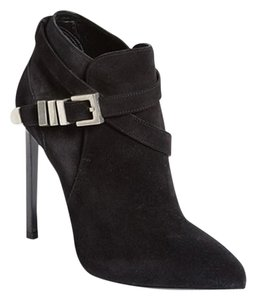 Yves Saint Laurent Adjustable Strap Bootie Black Boots
