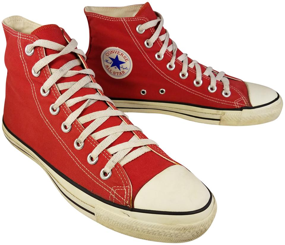 0c5b8b2b6084 Converse Red Usa Made Vintage Man 9  Woman Sneakers Size US 11 ...