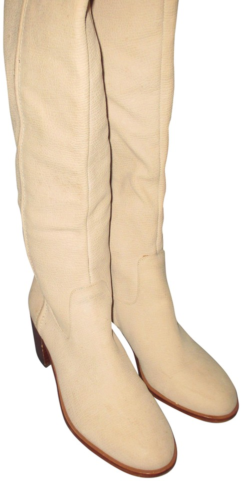 ce409f64d24 Sam Edelman Ivory Over The Knee Joplin M Boots Booties Size US 9 ...