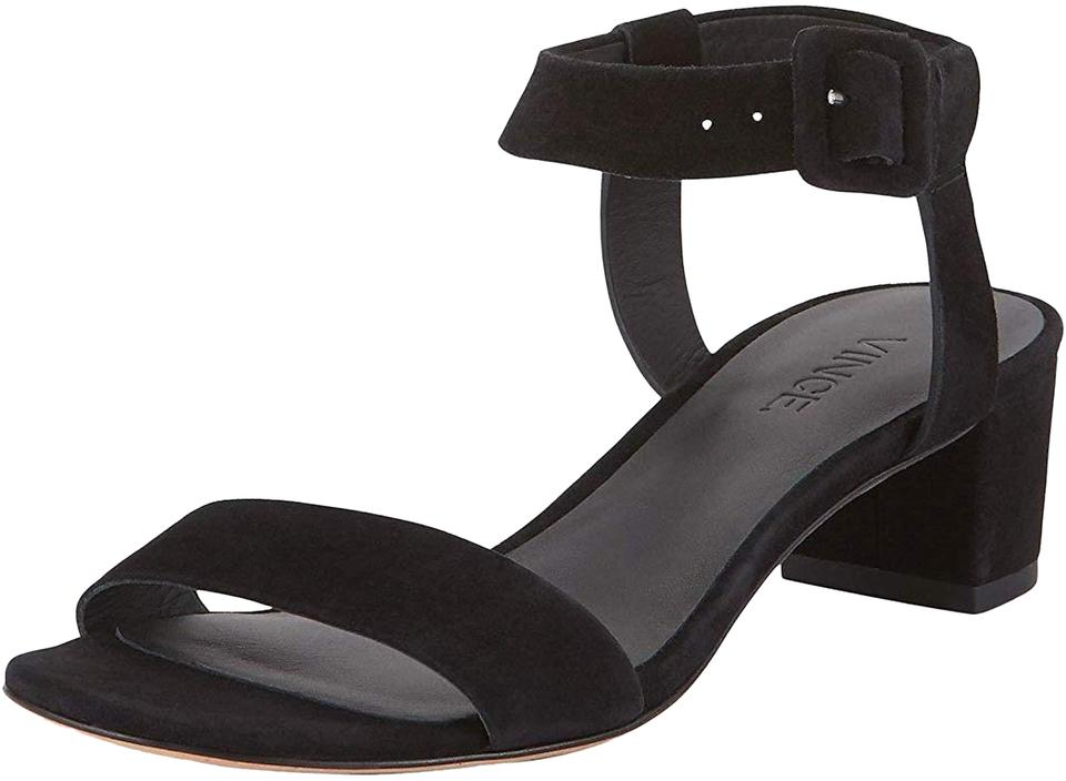 7f7c70b0c3e Vince Black Rena Ankle Strap Low Heel New In Box Sandals Size US 8 ...