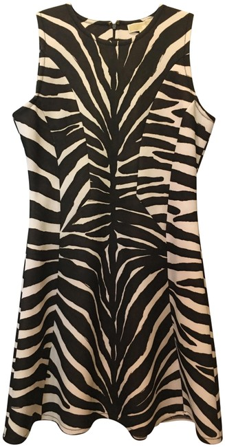 Item - Brown and White Short Night Out Dress Size 10 (M)