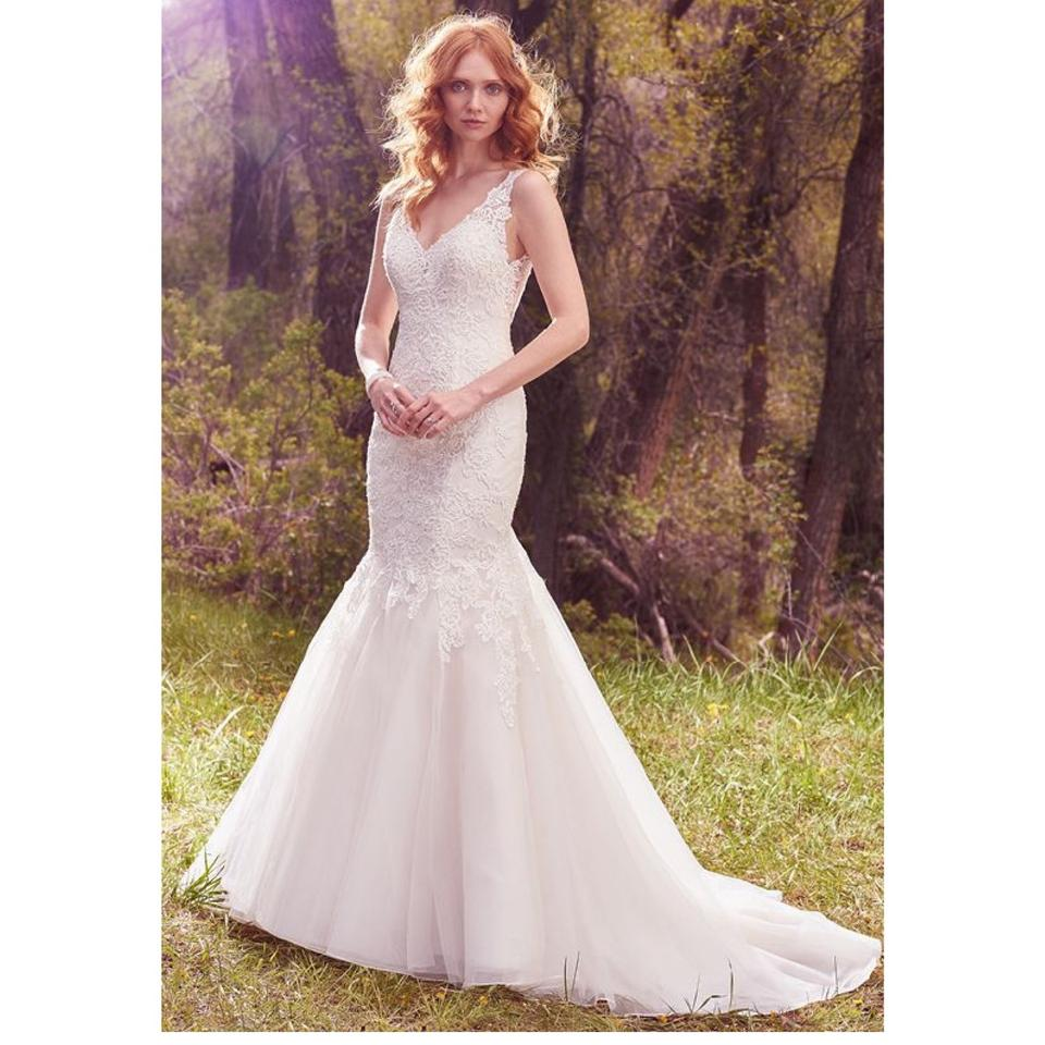 Maggie Sottero Ivory/Light Gold 'chardonnay' Gown 10