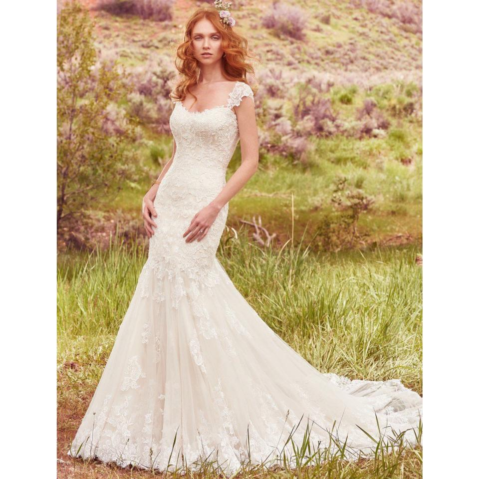 Maggie Sottero Ivory/Light Gold Bridal Gown Callie Gown 14 Feminine ...