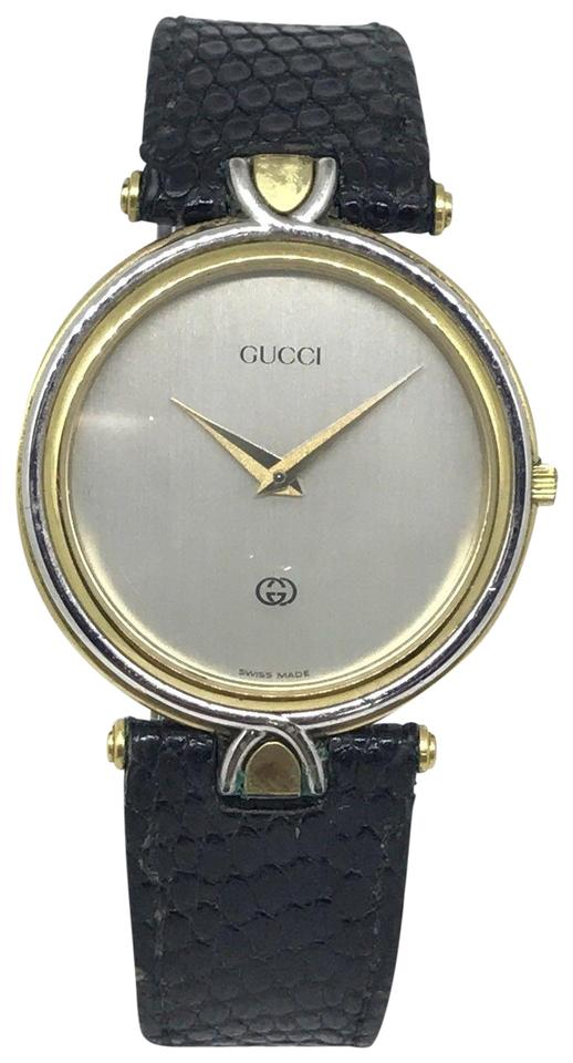 d68c252860c Gucci Vintage Gucci 4500M 18K Gold Plated Steel Two Tone Unisex Quartz Watch  Image 0 ...