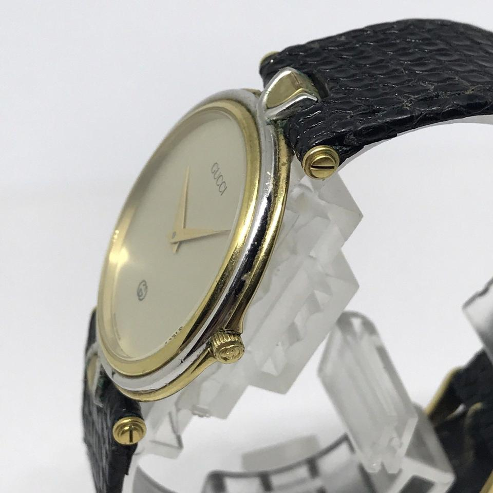 3cbca5ce8bf Gucci Vintage Gucci 4500M 18K Gold Plated Steel Two Tone Unisex Quartz  Watch Image 4. 12345
