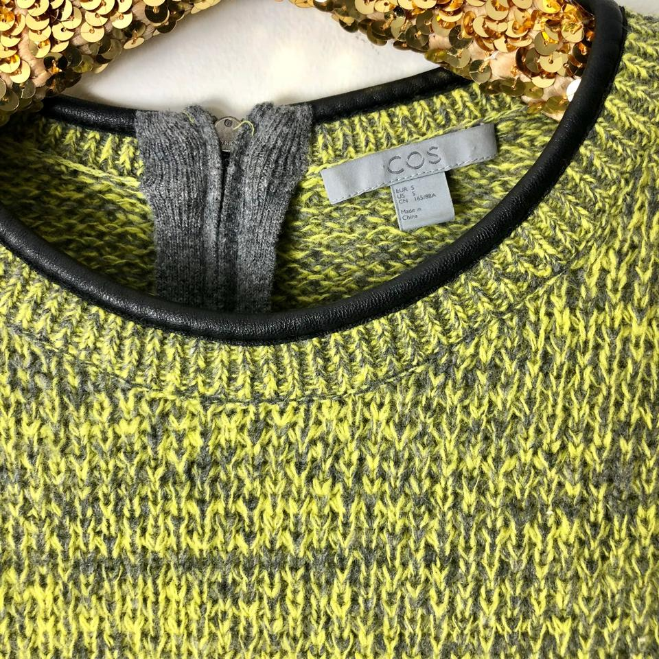 defbadde15a78 COS Green & Gray Wool Knitted Sweater Short Casual Dress Size 6 (S ...