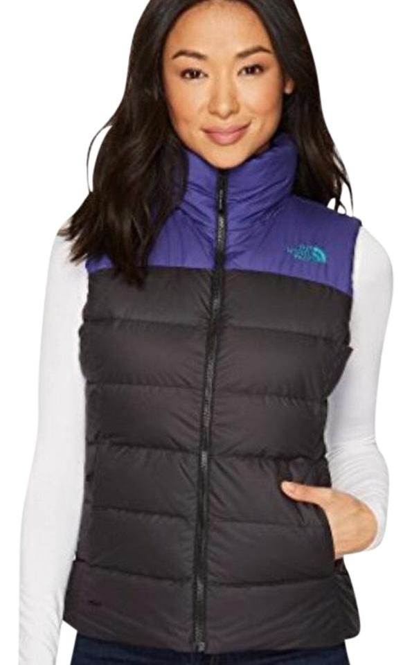 494761e60d The North Face Tnf Black Bright Navy Women Nuptse 700 Down Vest Size ...