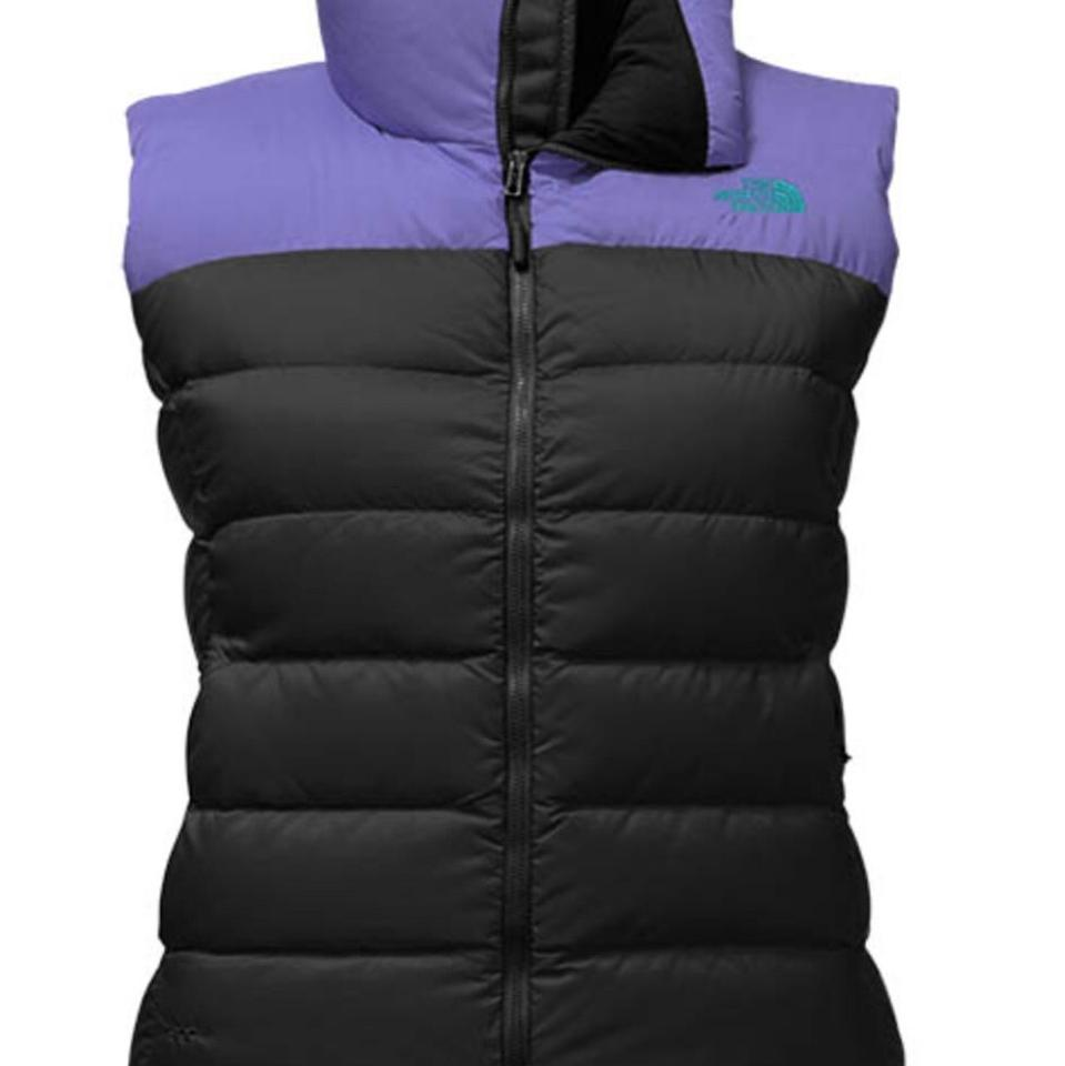 30241ba85a The North Face Tnf Black Bright Navy Women Nuptse 700 Down Vest Size 16  (XL