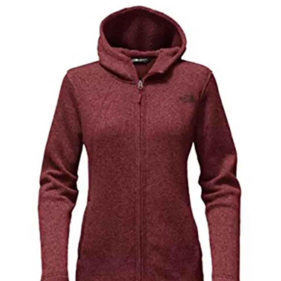471e1c8bc315 The North Face Barolo Red Women Crescent Fleece Full Zip Hoodie Small  Activewear