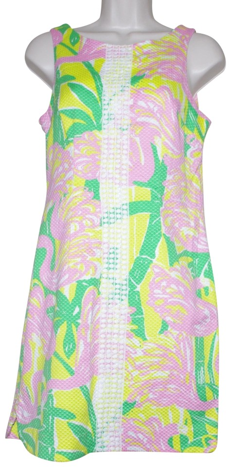 7eb90ef0630 Lilly Pulitzer Multicolored Target Fan Dance Flamingo Shift Casual Dress
