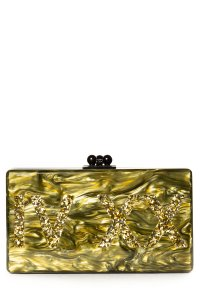 Edie Parker olive Clutch