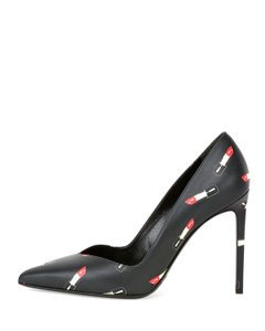 Saint Laurent Lipstick Designer Black Pumps