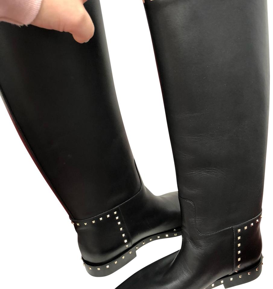 Valentino Black with Gold Studs Boots/Booties Boots/Booties Studs 0c72a4