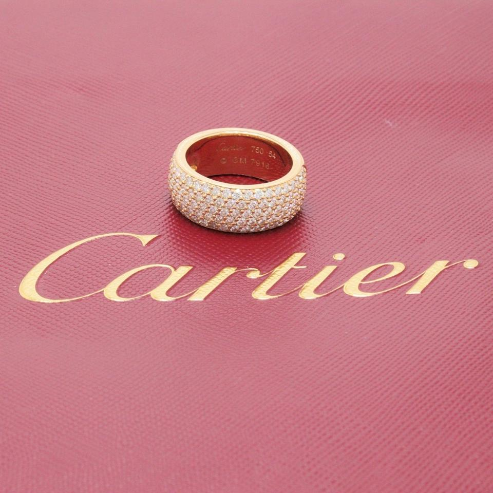 Cartier Rose Classic Five-row Diamond Pave Ring 18k Gold 1.50 Tcw ...