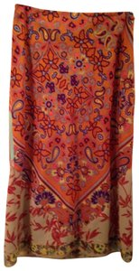 Free People Colorful Skirt Multi