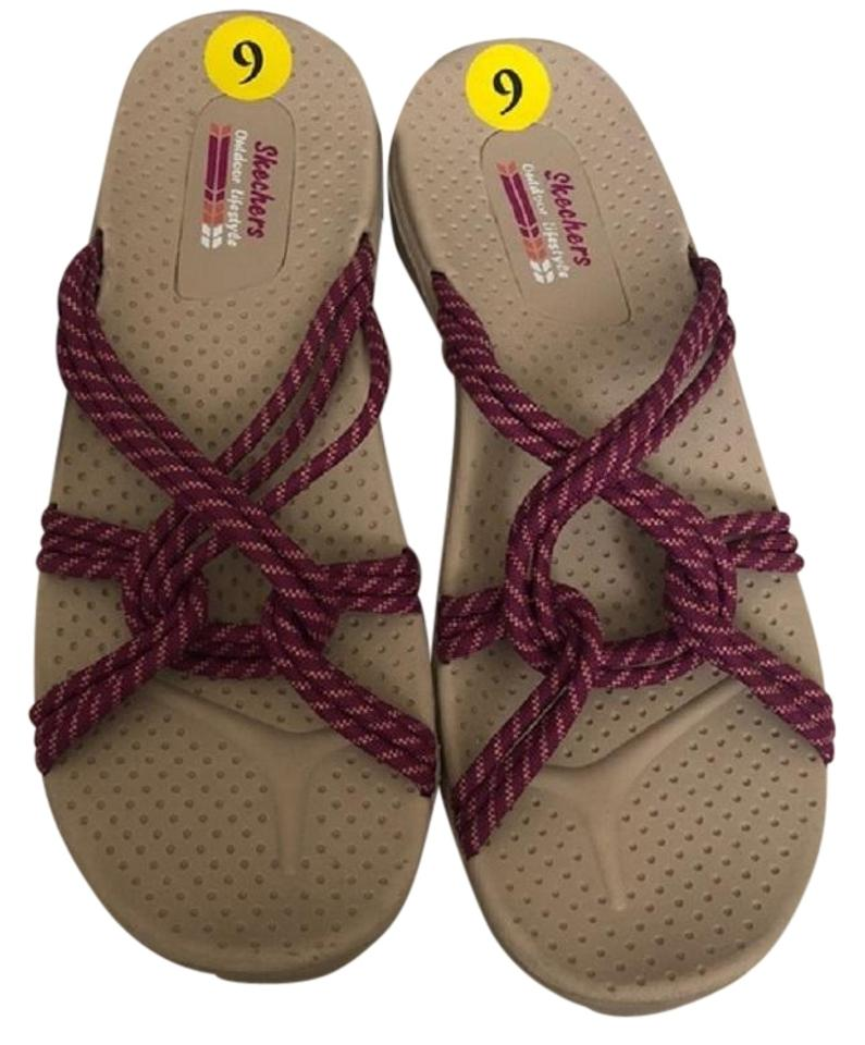 13bf25d6d26 Skechers Tan Outdoor Lifestyle Strappy Rubber Sandals Size US 8 ...