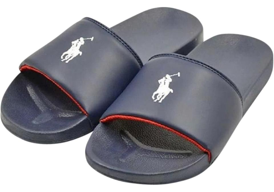 Polo Ralph Blue Lauren Blue Ralph Remi Slide Sandals de579f