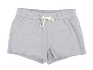 Alternative Apparel Comfy Cotton Blend Stretch Waist Cozy Comfy Drawstring Topstitch Grey Shorts