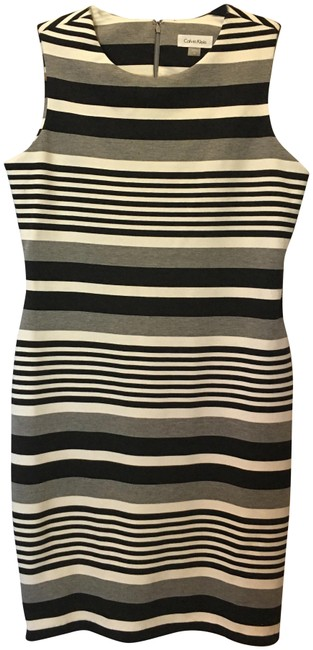 Item - Black Grey and White Short Work/Office Dress Size 10 (M)