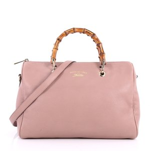 81a8f069b94 Gucci Bamboo Boston Tote in pink. Gucci Boston Bamboo Shopper Medium Pink Leather  Tote