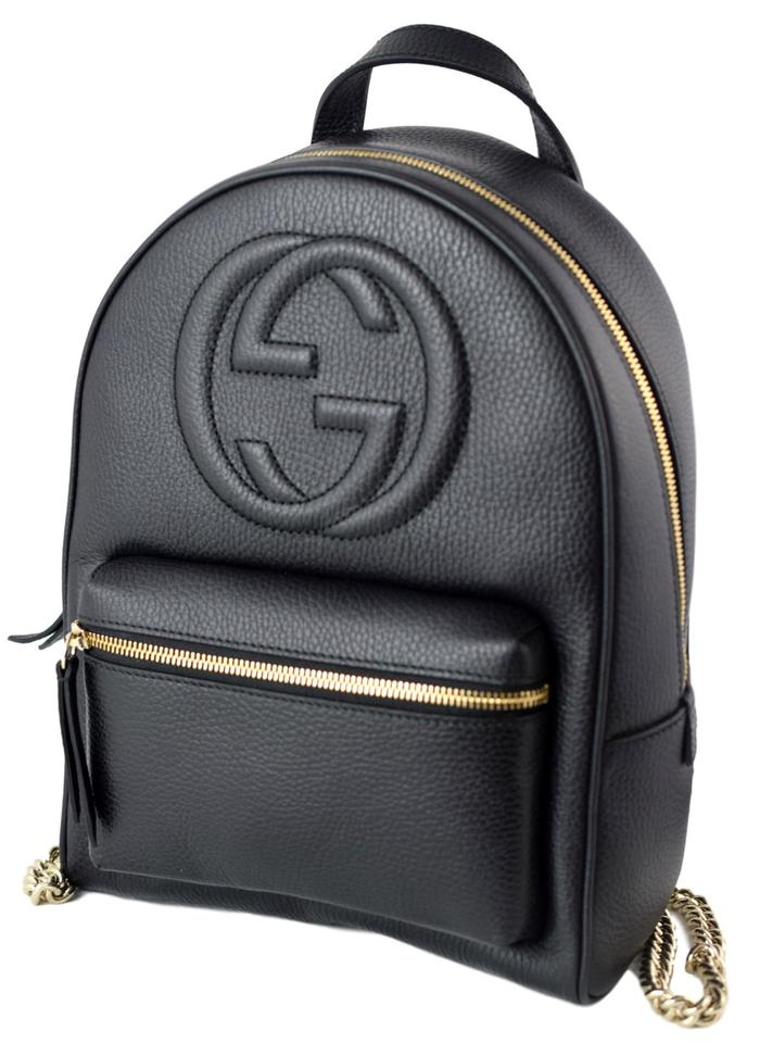 ad8d17895 Gucci Soho 536192 Women's Black Leather Backpack - Tradesy
