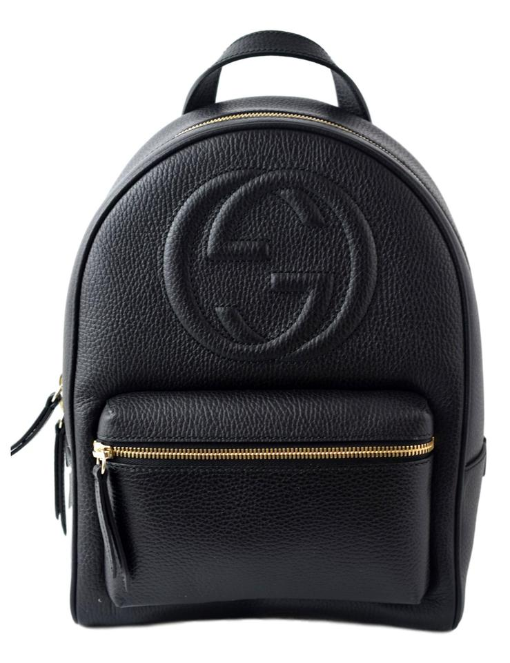 Gucci Soho 536192 Women\u0027s Black Leather Backpack 22% off retail