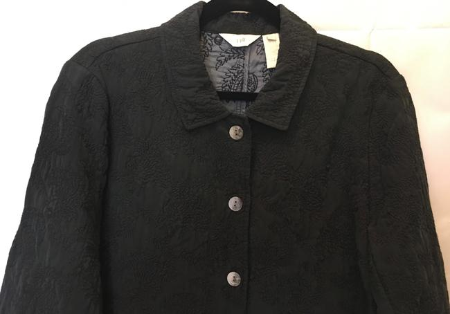 J. Jill Sandwashed Silk Silk Stitched Design Ombre Buttons New With Tags Top Black