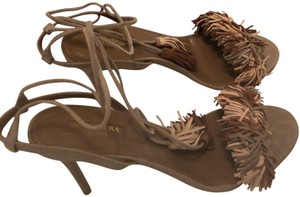 Aquazzura Nude/Tan/Blush (Terracotta) Suede Sandals