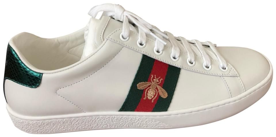 ad1fa5478 Gucci White Ace Embroidered Sneakers Size EU 39.5 (Approx. US 9.5 ...