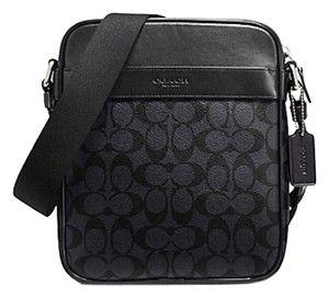 Coach New With Tags Men's Black/ Smoke Messenger Bag