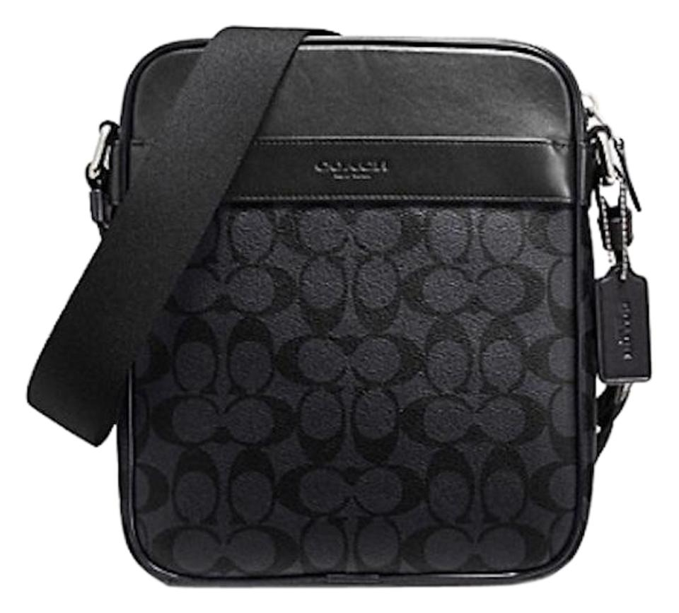 Coach New With Tags Men's Black/ Smoke Messenger Bag ...
