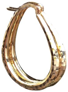 Argento Vivo 18K yellow textured gold over .925 hoops