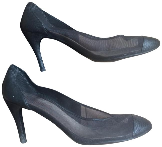 Item - Black Vintage Classic Leather High Heels with Monogram / See-through Formal Shoes Size EU 40.5 (Approx. US 10.5) Regular (M, B)
